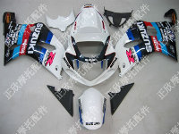 ZXMT White Motul ABS Fairing Set 9pc - Suzuki GSXR 600/750 2000-2003