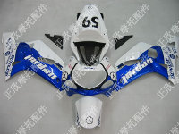 ZXMT Blue/White Jordan ABS Fairing Set 9pc - Suzuki GSXR 600/750 2000-2003