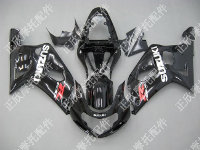 ZXMT Black ABS Fairing Set 9pc - Suzuki GSXR 600/750 2000-2003