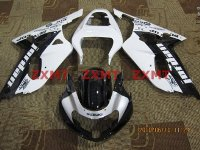 ZXMT Black/White Jordan ABS Fairing Set 9pc - Suzuki GSXR 600/750 2000-2003