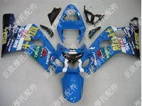 ZXMT Blue Rizla ABS Fairing Set 10pc - Suzuki GSXR 600/750 2004-2005