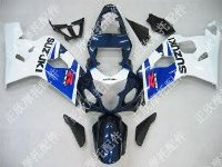 ZXMT Blue/Black/White ABS Fairing Set 10pc - Suzuki GSXR 600/750 2004-2005