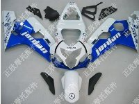 ZXMT Blue/White Jordan ABS Fairing Set 10pc - Suzuki GSXR 600/750 2004-2005