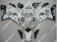 ZXMT White/Black Corona ABS Fairing Set 10pc - Suzuki GSXR 600/750 2004-2005