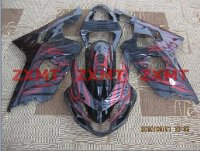 ZXMT Black/Red ABS Fairing Set 10pc - Suzuki GSXR 600/750 2004-2005