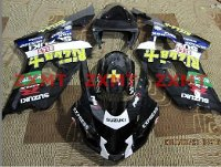 ZXMT Black Rizla ABS Fairing Set 10pc - Suzuki GSXR 600/750 2004-2005