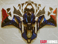 Blue Flames Full Fairing Set 26pc - Honda CBR600RR 2009-2010