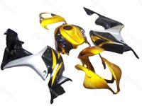 Black/Gold Full Fairing Set 26pc - Honda CBR600RR 2009-2010