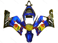 Red Bull Blue Fairing Set 16pc - Kawasaki ZX-6R 2003-2004
