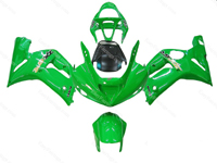 Green Ninja Fairing Set 16pc - Kawasaki ZX-6R 2003-2004