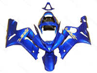 Blue Ninja Fairing Set 16pc - Kawasaki ZX-6R 2003-2004