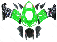 Green/Black Fairing Set 21pc - Kawasaki ZX-6R 2005-2006