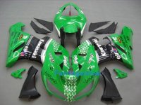 KAWASAKI NINJA ZX6R 05-06 ABS Fairing Green black