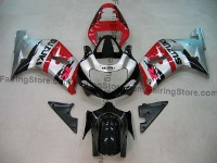 Red/Silver/Black ABS Fairing Set 9pc - Suzuki GSXR 600/750 2001-2003
