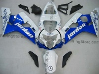 Blue/White Jordan ABS Fairing Set 10pc - Suzuki GSXR 600/750 2004-2005
