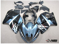 Black & Baby Blue ABS 19pc Fairing Set - Suzuki Hayabusa 1300RR 1997-2007