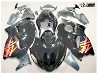 Black & Red ABS 19pc Fairing Set - Suzuki Hayabusa 1300RR 1997-2007