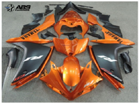 Burnt Orange & Black ABS 26pc Fairing Set - Yamaha YZF-R1 2007-2008