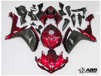 Deep Red & Black ABS 26pc Fairing Set - Yamaha YZF-R1 2007-2008