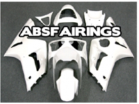 All Pearl White ABS 16pc Fairing Set - Kawasaki ZX6R 2003-2004
