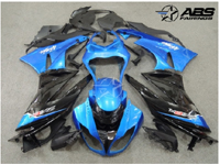 ABS Fairings Blue & Black 21pc Fairing Set - Kawasaki ZX6R 2005-2006