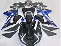 ABS Fairings Blue & Black Jordan 21pc Fairing Set - Kawasaki ZX6R 2005-2006