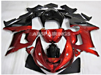 ABS Fairings Candy Apple Red 21pc Fairing Set - Kawasaki ZX6R 2005-2006