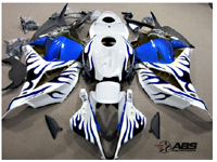 Blue & Black Flames ABS 29pc Fairing Set - Honda CBR600RR 2009-2011