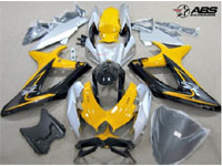 ABS Fairings Black & Yellow 30pc Fairing Set - Suzuki GSXR 600/750 2008-2010