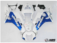 ABS Fairings Blue & White Jordan 9pc Fairing Set - Suzuki GSXR1000 2003-2004