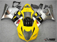 Yellow & Grey ABS 9pc Fairing Set - Suzuki GSXR1000 2003-2004