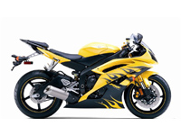 Yellow w/Black Flames ABS 24pc Fairing Set - Yamaha R6 2008-2012