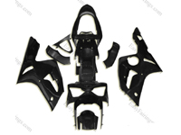 Unpainted ABS Fairing Set 10pc - Kawasaki ZX-6R 2003-2004