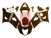 Black ABS Fairing Set 9pc - Suzuki GSXR1000 2003-2004