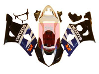 Black/Blue ABS Fairing Set 9pc - Suzuki GSXR1000 2003-2004