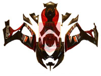 Black/Red ABS Fairing Set 23pc - Suzuki GSXR600/750 2006-2007