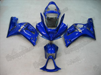 Blue Fairing Set 16pc - Kawasaki ZX6R 2003-2004