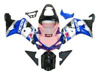 Blue/Silver/Black ABS Fairing Set 9pc - Suzuki GSXR1000 2000-2002