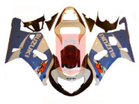 Blue/White ABS Fairing Set 9pc - Suzuki GSXR600/750 2001-2003
