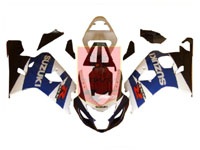 Blue/White/Black ABS Fairing Set 10pc - Suzuki GSXR600/750 2004-2005