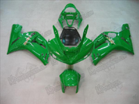 Green Fairing Set 16pc - Kawasaki ZX6R 2003-2004