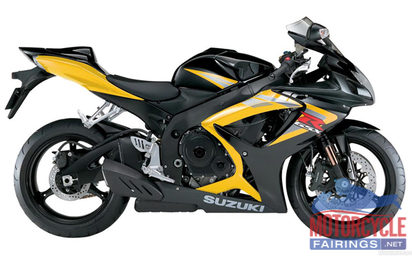 Black/Yellow ABS Fairing Set 23pc - Suzuki GSXR 600/750 2006-2007