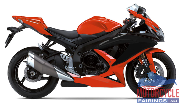 Orange/Black ABS Fairing Set K8 - Suzuki GSXR600/750 2008-2009