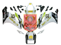Aftermarket HannSpree ABS Fairing Set 19pc - Honda CBR1000RR 2004-2005***No Honda Logos***