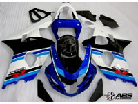 Anniversary Blue & White ABS 9pc Fairing Set - Suzuki GSXR 600/750 2004-2005