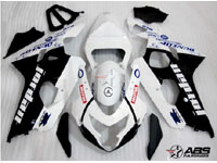ABS Fairings Black Jordan 9pc Fairing Set - Suzuki GSXR 600/750 2004-2005
