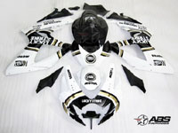 ABS Fairings Black Lucky Strike 24pc Fairing Set - Suzuki GSXR 600/750 2006-2007