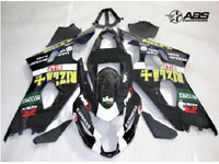 ABS Fairings Black Rizla 9pc Fairing Set - Suzuki GSXR 600/750 2004-2005