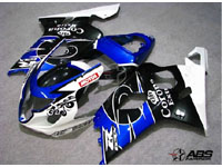 ABS Fairings Blue & Black Corona 9pc Fairing Set - Suzuki GSXR 600/750 2004-2005