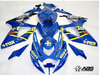 ABS Fairings Deep Blue Rizla 24pc Fairing Set - Suzuki GSXR 600/750 2006-2007